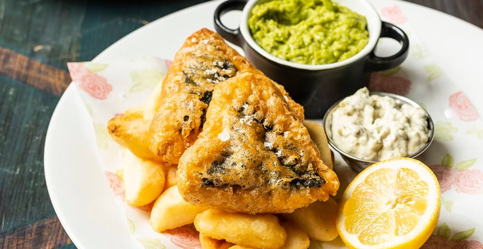 Cosy Club Vegan Fish and Chips