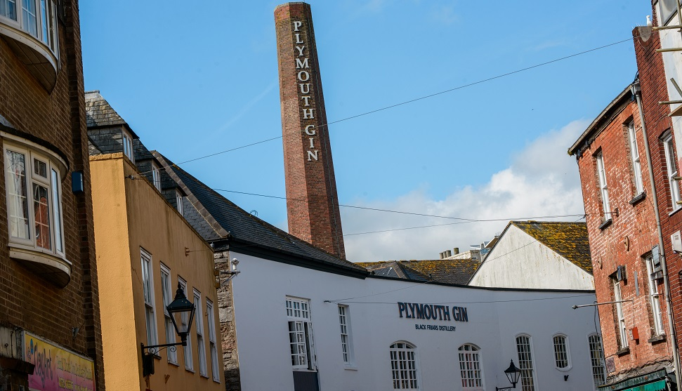 Front view of the Plymouth Gin Distillery