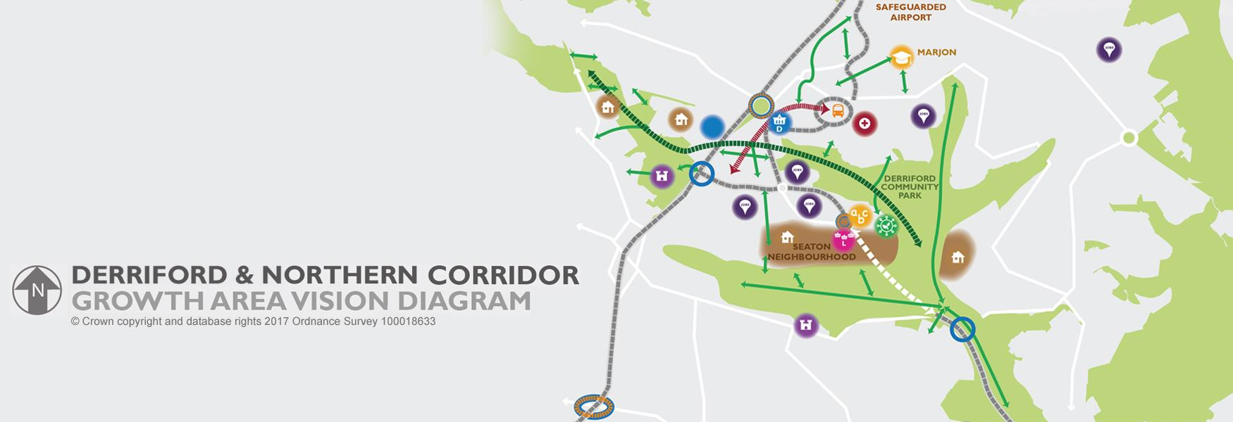 Derriford & Northern Corridor Growth Area Vision Diagram