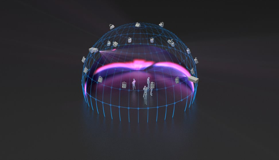Computer generated image of the Market Hall's immersive dome