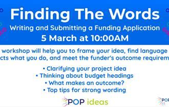 """Finding the Words"" - Funding Application Workshop"