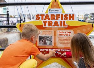 Follow Stella the starfish for family fun in Sutton Harbour!