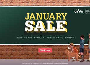 Take a trip to Plymouth with the GWR January Sale