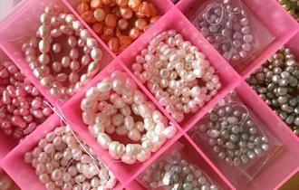 Adult's bead necklace workshop - pearls, crystals + semi precious stones