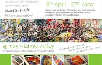 Hidden Inspiration – Art Exhibition of Martin Bush's New Work at The Hidden Olive