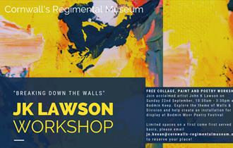 """Breaking Down the Walls"" FREE collage, paint and Poetry Workshop"