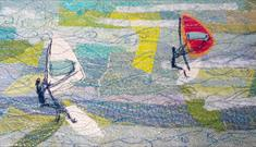 Seascapes and Landscapes in Freehand Machine Embroidery